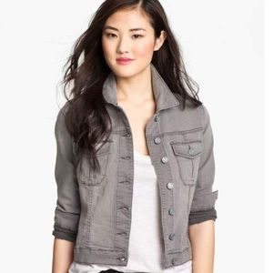 KUT FROM THE KLOTH DENIM CROPPED JACKET